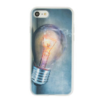 Gloeilamp iPhone 7 8 TPU case cover - Industrieel Lightbulb hoesje