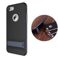 Rock Royce series Navy Blue iPhone 7 8 hoesje case - Blauw - Zwart - Kickstand