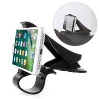 Universele Smartphone houder auto telefoon klem grip - iPhone Samsung - Zwart