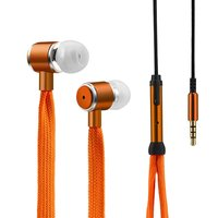 Veter Oordopjes In-Ear Mic - Oranje Metallic