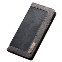 Caseme Canvas Wallet Fabric hoesje iPhone X Bookcase - Asgrijs Charcoal