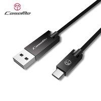 Caseme USB naar USB C kabel 25 cm - oplaadkabel zwart
