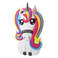 Rainbow Unicorn silicone case iPhone 6 Plus 6s Plus hoesje - Eenhoorn Regenboog