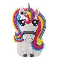 Rainbow Unicorn silicone case iPhone 5 5s SE hoesje - Eenhoorn Regenboog