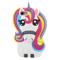 Rainbow Unicorn silicone case iPhone 7 8 SE 2020 hoesje - Eenhoorn Regenboog