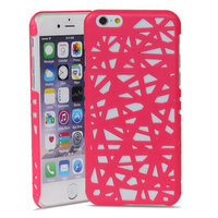 Vogelnest iPhone 6 6s hardcase hoesje Bird nest design - Roze