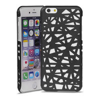 Vogelnest iPhone 6 6s hardcase hoesje Bird nest design - Zwart