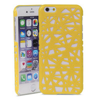 Vogelnest iPhone 6 6s hardcase hoesje Bird nest design - Geel