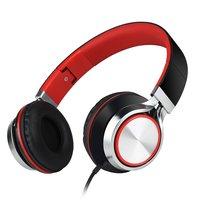 HD200 On-ear draadgebonden Stereo Koptelefoon - Microfoon Metallic Rood Zwart