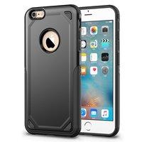 Pro Armor Shockproof iPhone 6 6s hoesje - Protection Case Zwart - Extra Bescherming