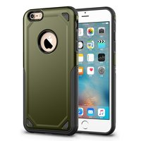 Pro Armor Shockproof iPhone 6 6s hoesje - Protection Case Army Green - Extra Bescherming
