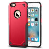 Pro Armor Shockproof iPhone 6 6s hoesje - Protection Case Red - Extra Bescherming rood