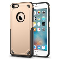 Pro Armor Shockproof iPhone 6 6s hoesje - Protection Case Gold - Extra Bescherming goud