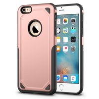 Pro Armor Shockproof iPhone 6 6s hoesje - Protection Case Rose - Extra Bescherming