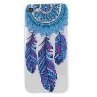 Doorzichtig Dromenvanger Feather iPhone 7 8 TPU hoesje - Blauw Paars