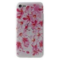 Dulcii Perzik Bloem iPhone 7 8 TPU hoesje - Roze Wit