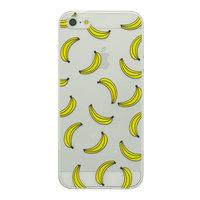 Doorzichtig Banaan hoesje iPhone 5/5s en SE TPU silicone cover fruit transparant gele bananen