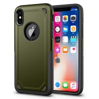 Shockproof Pro Armor iPhone X XS hoesje - Protection Case Green - Extra Bescherming