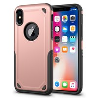 Shockproof Pro Armor iPhone X XS hoesje - Protection Case Rose Gold - Extra Bescherming