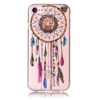 Transparant dromenvanger TPU hoesje iPhone 7 8 Veren - Doorzichtig
