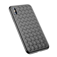 Baseus Weaving Case geweven TPU hoesje iPhone X XS - Zwart