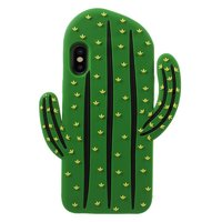 Silicone 3D cactus case iPhone X XS hoesje - Groen