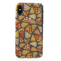 Transparant Pizza hoesje TPU case iPhone X XS - Doorzichtig