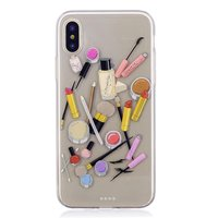 Make-up TPU hoesje iPhone X XS - Doorzichtig