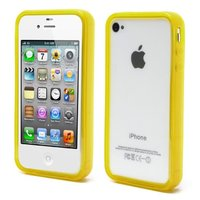 iPhone 4 4S 4G bumper case hoesje silicone - Geel