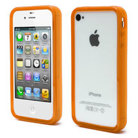 iPhone 4 4S 4G bumper case hoesje silicone - Oranje