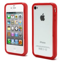 iPhone 4 4S 4G bumper case hoesje silicone - Rood