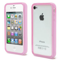 iPhone 4 4S 4G bumper case hoesje silicone - Roze
