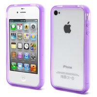 iPhone 4 4S 4G bumper case hoesje silicone - Paars
