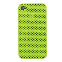 Mesh iPhone 4 4S Case gaatjes hoesje hardcase - Groen