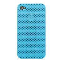 Mesh iPhone 4 4S Case gaatjes hoesje hardcase - Lichtblauw