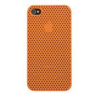 Mesh iPhone 4 4S Case gaatjes hoesje hardcase - Oranje