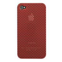 Mesh iPhone 4 4S Case gaatjes hoesje hardcase - Rood