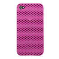 Mesh iPhone 4 4S Case gaatjes hoesje hardcase - Roze