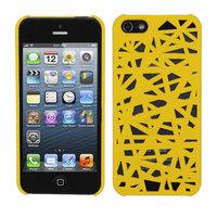 Vogelnest hoesje Bird case iPhone 5 5s SE Case Cover Uniek Bird Nest Ontwerp - Geel