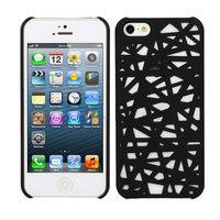 Vogelnest hoesje Bird case iPhone 5 5s SE Case Cover Uniek Bird Nest Ontwerp - Zwart