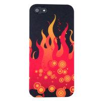 Kleurrijk hoesje iPhone 5 5s SE Case Cover Hoes - Rode Vlammen