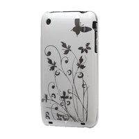 iPhone 3 3G 3GS hardcase sierlijke bloem leuke opdruk - Wit