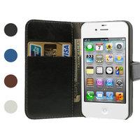 iPhone 4 4s Bookcase Portemonnee hoesje lederen wallet case - Lichtroze