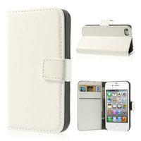 iPhone 4 4s Bookcase Portemonnee hoesje lederen wallet case - Wit