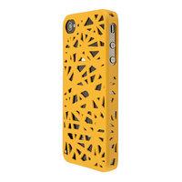 iPhone 4 4s vogelnest hoesje cover case bird nest ontwerp - Geel