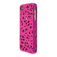 iPhone 4 4s vogelnest hoesje cover case bird nest ontwerp - Roze