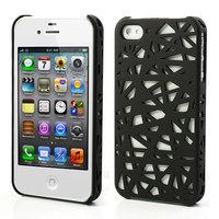 iPhone 4 4s vogelnest hoesje cover case bird nest ontwerp - Zwart