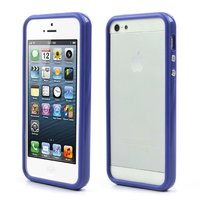 Bumper hoesje iPhone 5 5s en iPhone SE Case cover - Blauw