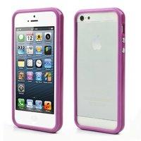 Bumper hoesje iPhone 5 5s en iPhone SE Case cover - Paars