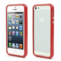 Bumper hoesje iPhone 5 5s en iPhone SE Case cover - Rood